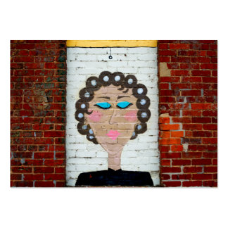 Woman in Curlers Large Business Card