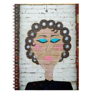 Woman in Curlers Spiral Notebooks