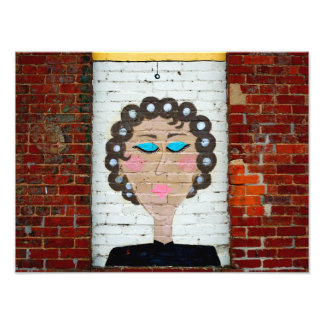 Woman in Curlers Photo Print