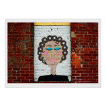 Woman in Curlers Poster