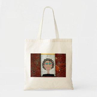 Woman in Curlers Tote Bag