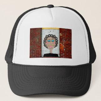 Woman in Curlers Trucker Hat