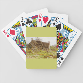 Woman In Dorset Cottage Doorway Bicycle Playing Cards
