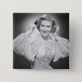 Woman in Dress 2 Pinback Button