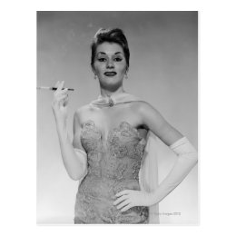 Woman in Dress Postcard
