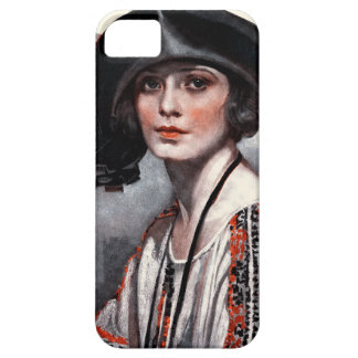 Woman in Embroidered Blouse iPhone 5 Cover