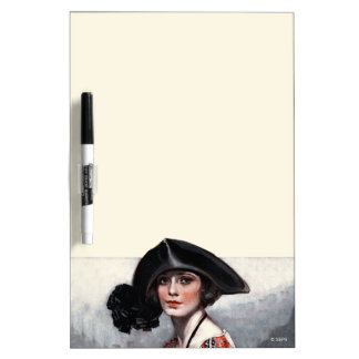 Woman in Embroidered Blouse Dry-Erase Board