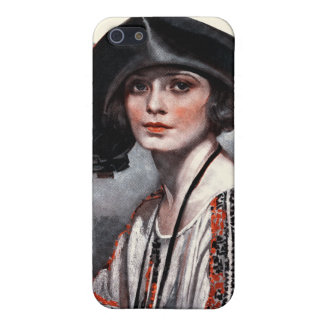 Woman in Embroidered Blouse Covers For iPhone 5