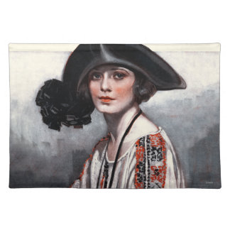 Woman in Embroidered Blouse Placemat