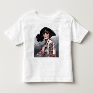 Woman in Embroidered Blouse Toddler T-shirt