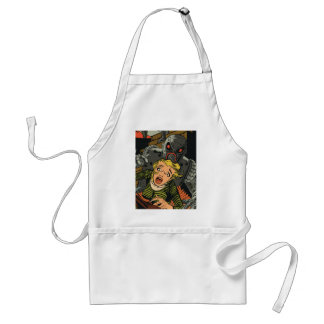Woman in escape adult apron