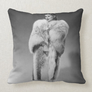 Woman in Evening Gown 2 Pillow