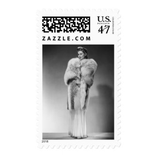 Woman in Evening Gown 2 Postage