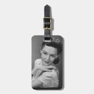 Woman in Evening Gown Bag Tag
