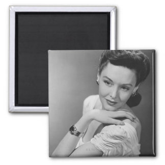 Woman in Evening Gown Magnet