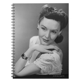 Woman in Evening Gown Notebook