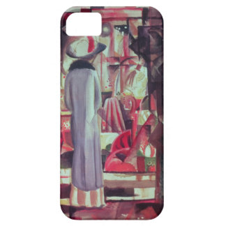 Woman in front of a large illuminated window iPhone SE/5/5s case