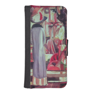 Woman in front of a large illuminated window iPhone SE/5/5s wallet case