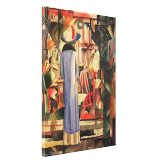 Woman in Front of a Shop Window by August Macke Stretched Canvas Prints