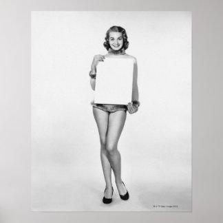 Woman in Fur Print