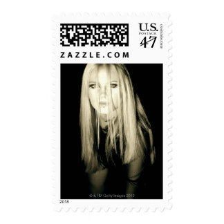 Woman in gothic fashion postage