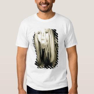Woman in gothic fashion shirts