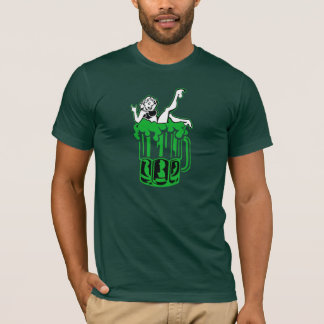 Woman In Green Beer T-Shirt
