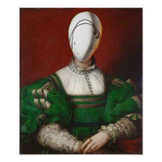 WOMAN IN GREEN DRESS Fashion Theatrical Costume Poster