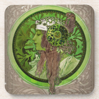 Woman in Green - LAUREL Coasters