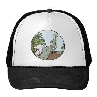 Woman in Green on a Horse Trucker Hat