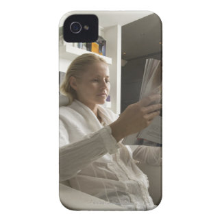Woman in hairdressing salon iPhone 4 Case-Mate cases