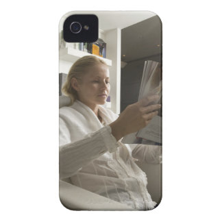 Woman in hairdressing salon iPhone 4 cases