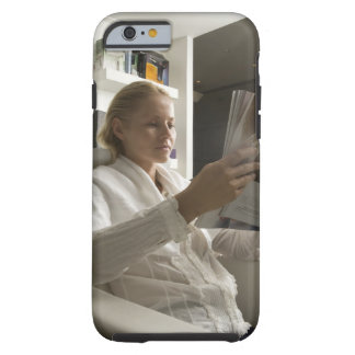 Woman in hairdressing salon tough iPhone 6 case