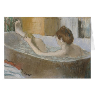 Woman in her Bath, Sponging her Leg, c.1883 Greeting Cards
