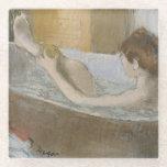 Woman in her Bath, Sponging her Leg, c.1883 Glass Coaster