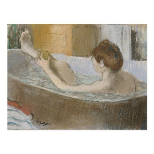 Woman in her Bath, Sponging her Leg, c.1883 Postcards