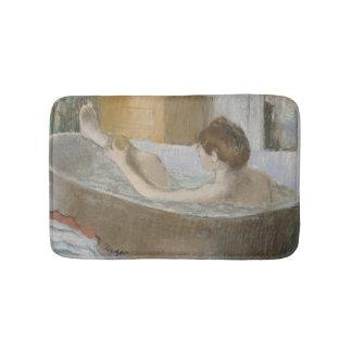 Woman in her Bath, Sponging her Leg, c.1883 Bath Mats
