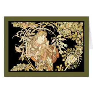 Woman in Jasmine Vines Card