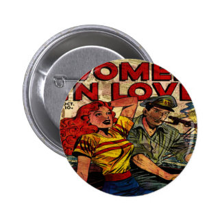 Woman in love button