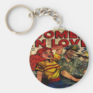 Woman in love keychain