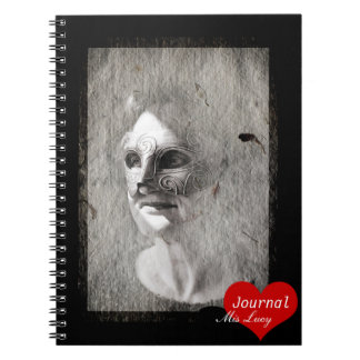 Woman in Mask No.2 (Notebook) Spiral Notebook