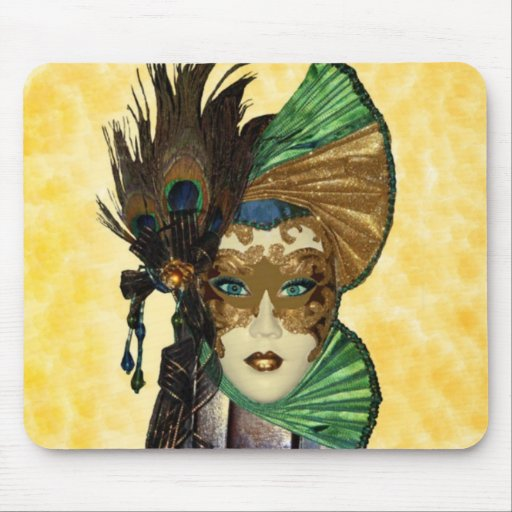 Woman In Masquerade Art Mouse Pad