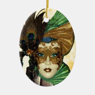 Woman In Masquerade Art Christmas Tree Ornament