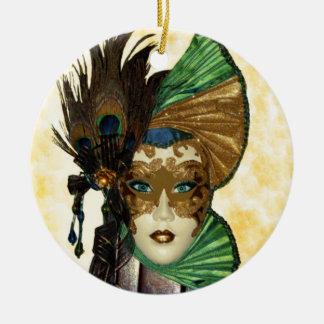 Woman In Masquerade Art Ornament