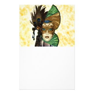 Woman In Masquerade Art Stationery