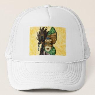 Woman In Masquerade Art Trucker Hat