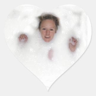 Woman in Milk Heart Sticker