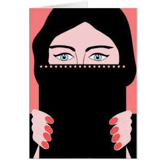 Woman in nikab cards