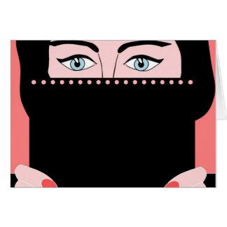 Woman in nikab greeting card