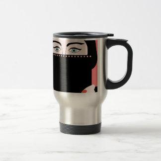 Woman in nikab travel mug